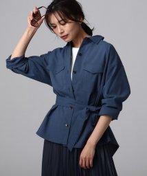 UNTITLED/【洗える】マットクロスベルトシャツジャケット/502986533