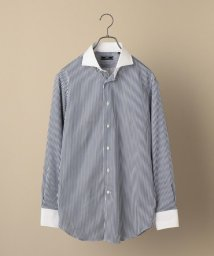 SHIPS MEN/SD: イージーアイロン ストライプ ネイビー ホリゾンタル クレリックシャツ/502986626