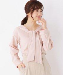 pink adobe/<WEB限定・LLサイズあり>ボウタイデザイン ブラウス/502986835