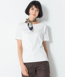 NIJYUSANKU/【マガジン掲載】DOUBLE SMOOTH ボートネック Tシャツ(番号F53)/502987027