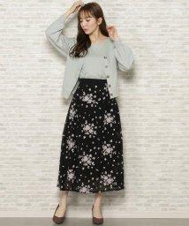 WILLSELECTION/フリンジ刺繍切替スカート/502935501