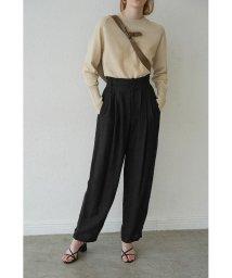 CLANE/LINEN J/W LOOSE SLACKS PANTS/502947032