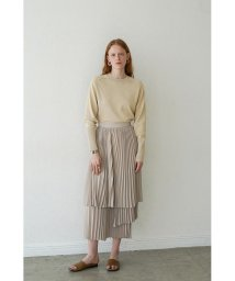 CLANE/THREE LAYER PLEAT SKIRT/502947034