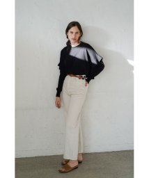 CLANE/SIDE FRILL KNIT TOPS/502947035