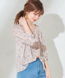 NICE CLAUP OUTLET/【natural couture】袖くしゅとろみブラウス/502970033