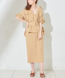 NICE CLAUP OUTLET/【natural couture】綿麻ゆるタイトスカート/502970043
