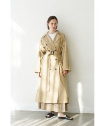 CLANE/BACK FRILL SLEEVE TRENCH COAT/502982321