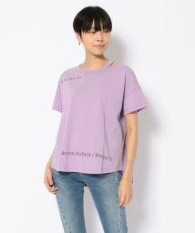 AVIREX/SH/オープンネック オーバーサイズ Tシャツ/OPEN NECK OVER SIZE T-SHIRT/502987150