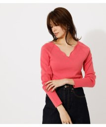 AZUL by moussy/SCALLOP KNIT TOPS/502987370