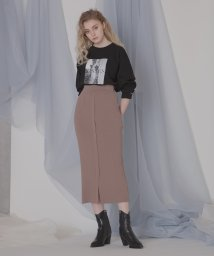 MIELIINVARIANT/Powdery Rib Skirt/502987785