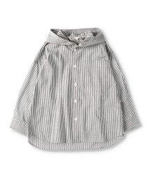 branshes/フード付きストライプ長袖シャツ(90~150cm)/502987807