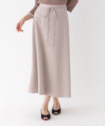 AG by aquagirl/【洗える/Lサイズあり】マットサテンロングフレアスカート/502988019