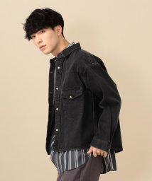 SHIPS MEN/SU: デニム ショート シャツ ジャケット/502988049