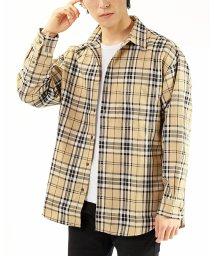 TopIsm/ワイドシルエット先染めドロップショルダーチェックシャツ/502988405