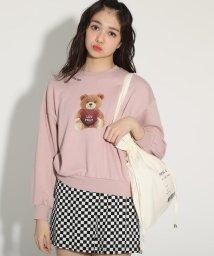 PINK-latte/くまちゃん裏毛プルオーバー&巾着バッグセット/502988483
