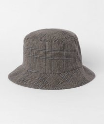 URBAN RESEARCH DOORS/unfil glen check tweed bucket hat/502990128