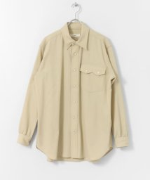 URBAN RESEARCH DOORS/unfil wool gabardine western shirts/502990129