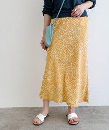 ROPE' mademoiselle/フラワープリントマーメイドスカート/502990232