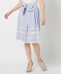 LODISPOTTO/ウエストリボンレース切替スカート/502897994