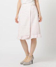 LODISPOTTO/装飾バックルツイードスカート/502897995