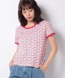 LEVI'S LADY/【WOMEN】GRAPHIC RINGER SURF TEE ALL OVER FILLED/502928572