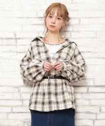 INGNI/チェック柄ボリュームシャツ/502981639