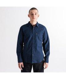 Levi's/SUNSET 1ポケットシャツ SLIM ASH INDIGO PRINT/502990937