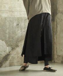 miette/フロントボタンフェイクラップロングスカート/502991152