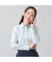 BRICKHOUSE/【ディズニー】ウィメンズシャツ長袖形態安定 レギュラー衿 ミッキーシェイプ織柄/502991155