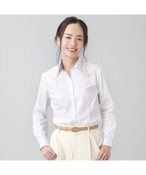 BRICKHOUSE/【ディズニー】ウィメンズシャツ 長袖 形態安定 スキッパー衿 白×星型織柄/502991157