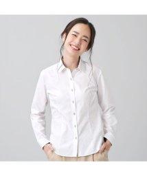 BRICKHOUSE/【ディズニー】ウィメンズシャツ長袖形態安定 レギュラー衿 ミッキーシェイプ織柄/502991158