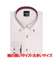 BRICKHOUSE/【ディズニー】ワイシャツ長袖形態安定 ボタンダウンミッキーシェイプ織柄 スリム/502991166