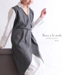 Sawa a la mode/チェック柄重ね着風シャツワンピース/502991282