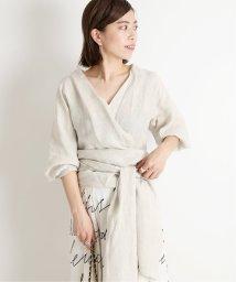 VERMEIL par iena/《予約》麻カシュクールブラウス◆/502991811
