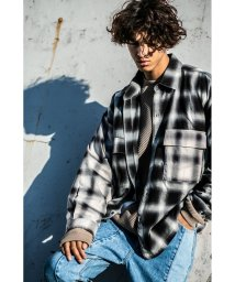 monkey time/<monkey time> SWITCHING OMBRE CHECK SHIRT/オンブレチェックシャツ/502993387