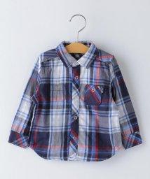 SHIPS KIDS/SHIPS KIDS:ダブルガーゼ リバーシブル チェック シャツ(80~90cm)/502993584