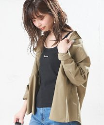 NICE CLAUP OUTLET/【natural couture】ちびロゴ刺繍入りテレコキャミ/502976561