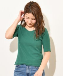 NICE CLAUP OUTLET/【natural couture】前後2WAY細リブTシャツ/502976564