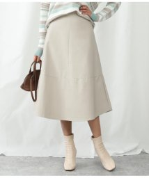 Alluge/デザイン切替フェイクレザースカート/502993993