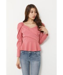 rienda/Mutton Sleeve Peplum TOP/502994228