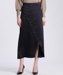 ef-de(L SIZE)/《大きいサイズ》フロントクロスサテンスカート 《Maglie par ef-de》/502994326