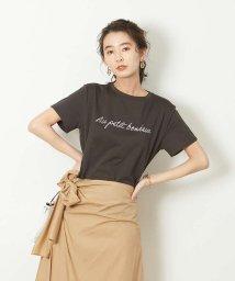 Rouge vif la cle/シャツヘムプリントTシャツ/502829989