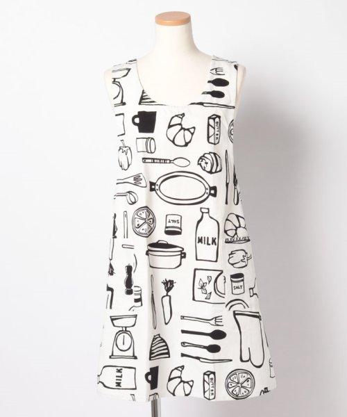 Afternoon Tea LIVING(アフタヌーンティー・リビング)/キッチンモチーフプリントエプロン/GL6020200679