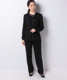 Leilian PLUS HOUSE/【ブラックフォーマル】スーツ3点セット/502949932
