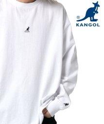 MARUKAWA/【KANGOL】カンゴール ビッグシルエット ミニロゴ刺繍 袖ロゴプリント バックロゴプリント 袖ロゴテープ 長袖Tシャツ  ユニセックス/502963429