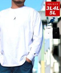 MARUKAWA/【KANGOL】カンゴール 大きいサイズ ビッグシルエット ミニロゴ刺繍 長袖Tシャツ 春/502963439