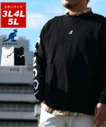 MARUKAWA/【KANGOL】カンゴール 大きいサイズ ビッグシルエット ミニロゴ刺繍 袖ロゴプリント 長袖Tシャツ 春/502963440