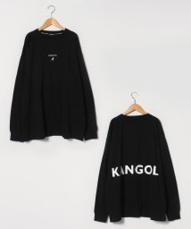 MARUKAWA/【KANGOL】カンゴール 大きいサイズ ビッグシルエット ミニロゴ刺繍 バックロゴプリント 長袖Tシャツ 春/502963441