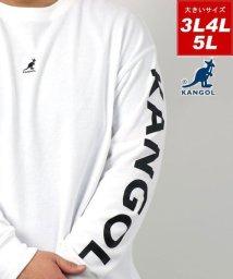 MARUKAWA/【KANGOL】カンゴール 大きいサイズ ビッグシルエット ミニロゴ刺繍 袖ロゴプリント 裏毛 トレーナー 春/502963445
