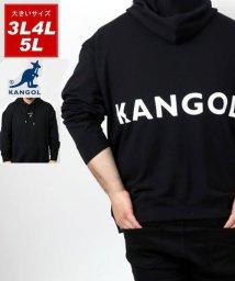 MARUKAWA/【KANGOL】カンゴール 大きいサイズ ビッグシルエット ミニロゴ刺繍 バックロゴプリント 裏毛 パーカー 春/502963449